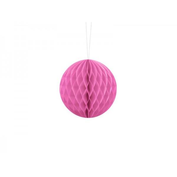 Kula bibułowa różowa 10cm