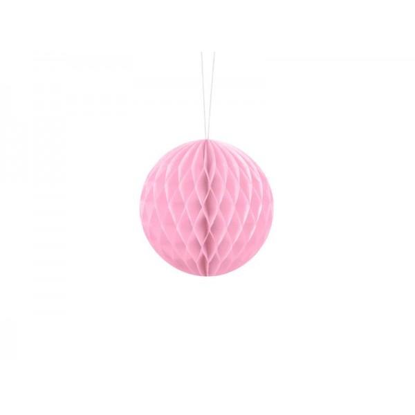 Kula bibułowa jasny różowy 10cm