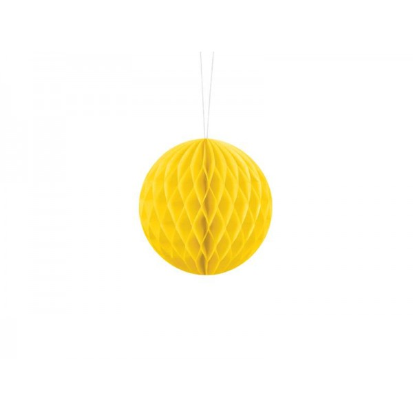 Kula bibułowa żółta 10cm