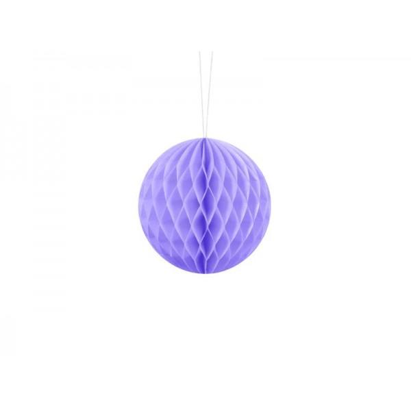 Kula bibułowa liliowa 10cm