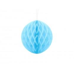 Kula bibułowa błękitna 20cm