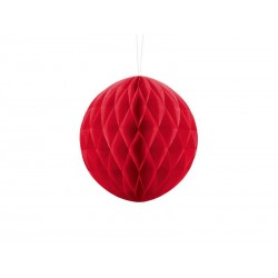 Kula bibułowa czerwona 20cm