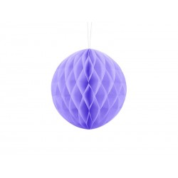 Kula bibułowa liliowa 20cm