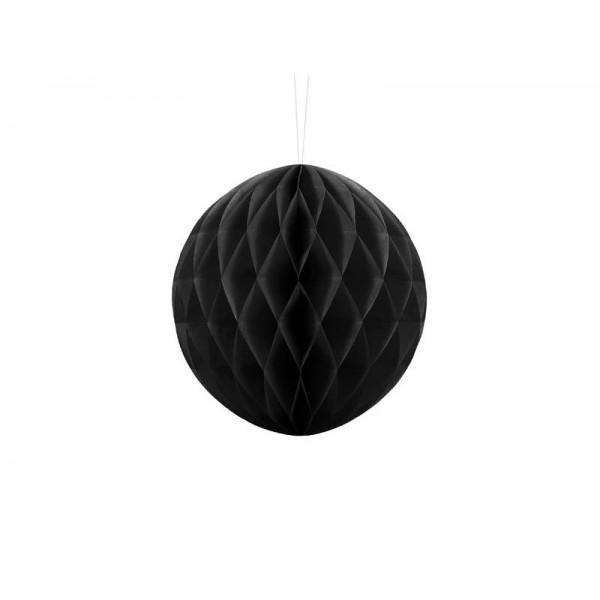 Kula bibułowa czarna 20cm