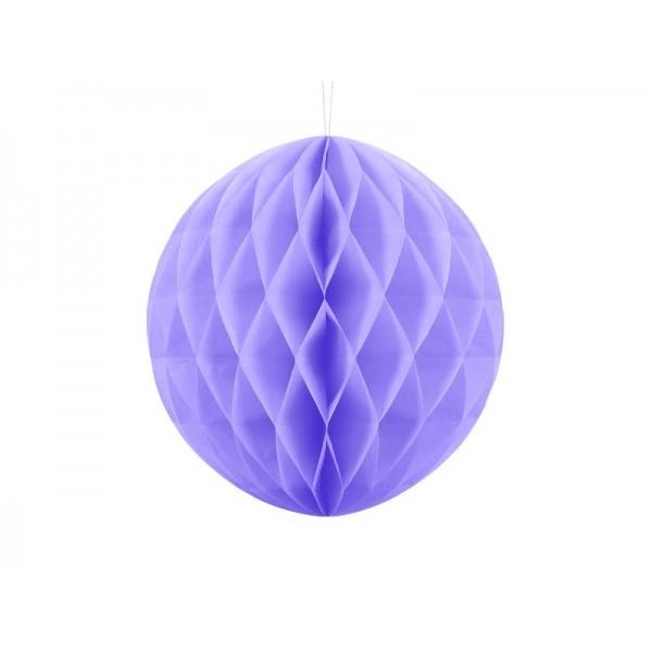 Kula bibułowa liliowa 30cm