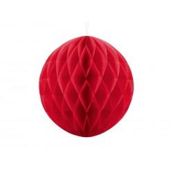 Kula bibułowa czerwona 30cm