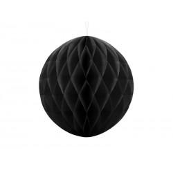 Kula bibułowa czarna 30cm