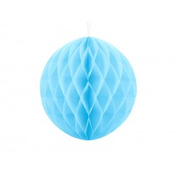 Kula bibułowa błękitna 30cm