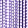 Słomki papierowe liliowe karo 10szt