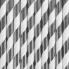 Słomki papierowe srebrne w paski metaliczne 10szt