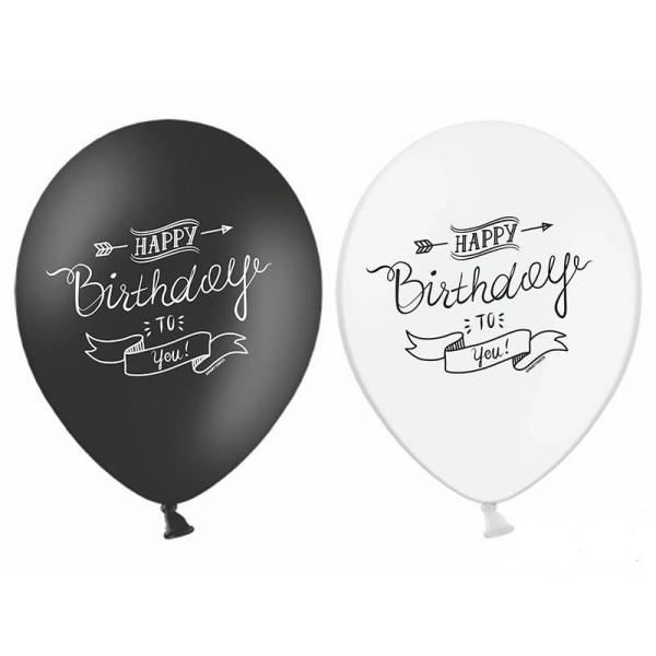 Balony Happy Birthday mix kolorów 5szt