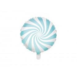 Balon foliowy cukierek jasnoniebieski 45cm