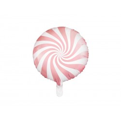 Balon foliowy cukierek jasnoóżowy 45cm