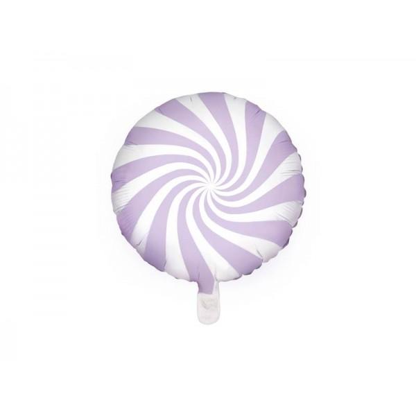 Balon foliowy cukierek jasny liliowy 45cm