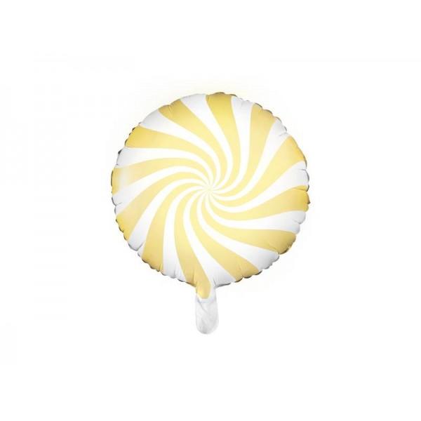 Balon foliowy cukierek jasny żółty 45cm