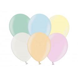 Balony metaliczne perłowy mix 25cm 100szt