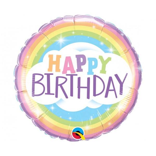 Balon foliowy Happy Birthday Raibow 46cm
