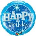 Balon foliowy Happy Birthday niebieski 46cm