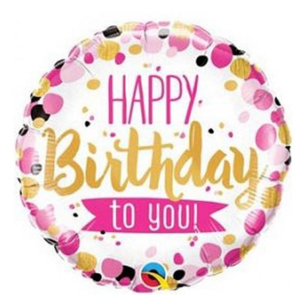 Balon foliowy Happy Birthday 46cm
