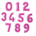 Balony Cyfry  0-9 Różowe 102cm