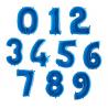 Balony Cyfry 0-9 Niebieskie 102cm