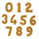 Balony Cyfry  0-9 Złote 102 cm