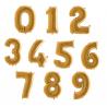 Balony Cyfry  0-9 Złote 102cm