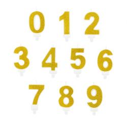 Świeczki Cyfry Złote 0-9