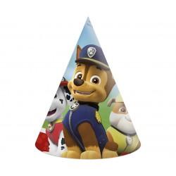 Czapeczki papierowe Psi Patrol 6szt