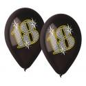 Balony pastelowe 18 urodziny czarne 12cali 30cm 5szt