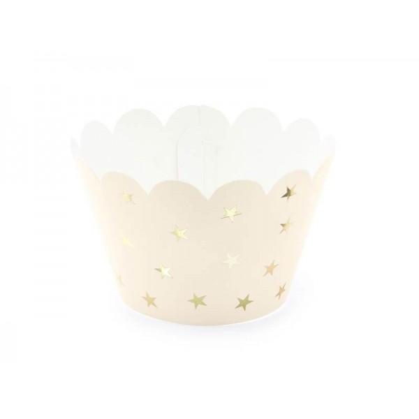 Foremki papierowe na muffinki jasna brzoskwinia 6szt