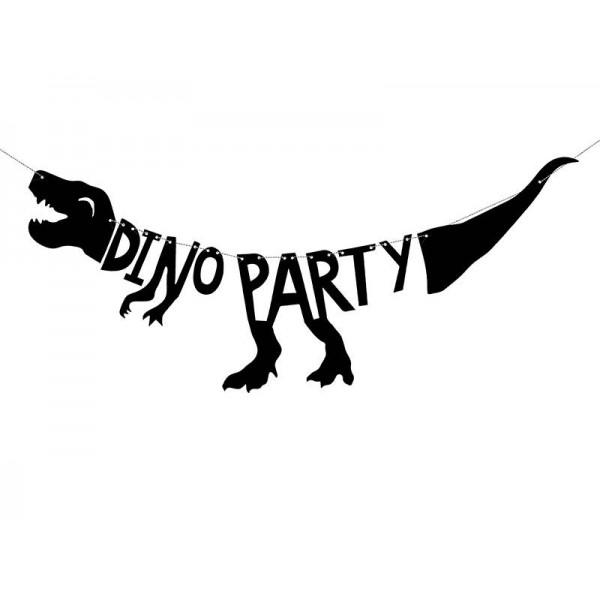 Baner Dinozaur czarny 20x90cm