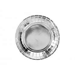 Talerzyki srebrne metalizowane 18cm 6szt