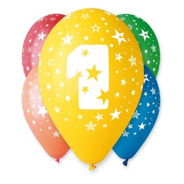 Balony 1 na Roczek 12cali 30cm 5szt