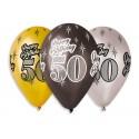 """Balony Premium """"Happy Birthday 50"""" 30cm  6szt"""