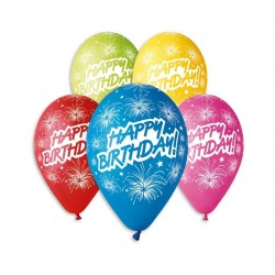 "Balony pastelowe ""Happy Birthday"" 12cali 30cm 5szt"