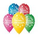 """Balony pastelowe """"W dniu urodzin"""" 13cali 33cm  5szt"""