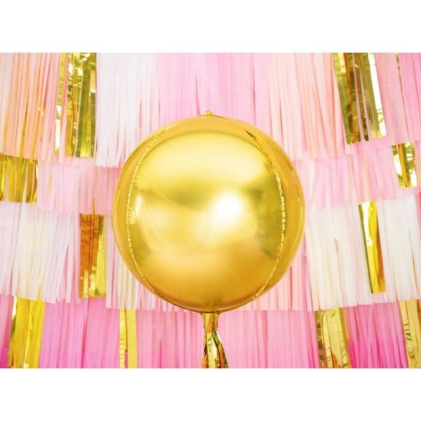 Balon foliowy Kula złoty 40cm