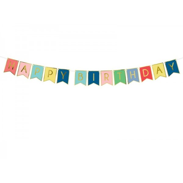 Baner Happy Birthday 15x175cm