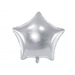 Balon foliowy Gwiazdka srebrny 48cm