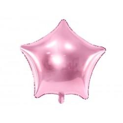 Balon foliowy Gwiazdka jasnoróżowy 48cm