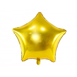 Balon foliowy Gwiazdka złoty 48cm