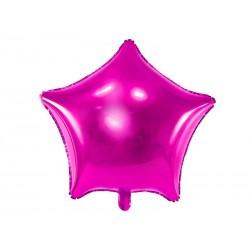 Balon foliowy Gwiazdka ciemnoróżowy 48cm