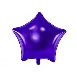 Balon foliowy gwiazdka fioletowa 48cm