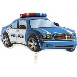 Balon foliowy Radiowóz Policyjny niebieski 80x50cm