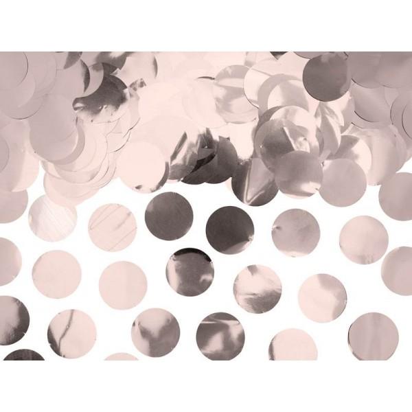 Konfetti metaliczne kółka różowe złoto 15g
