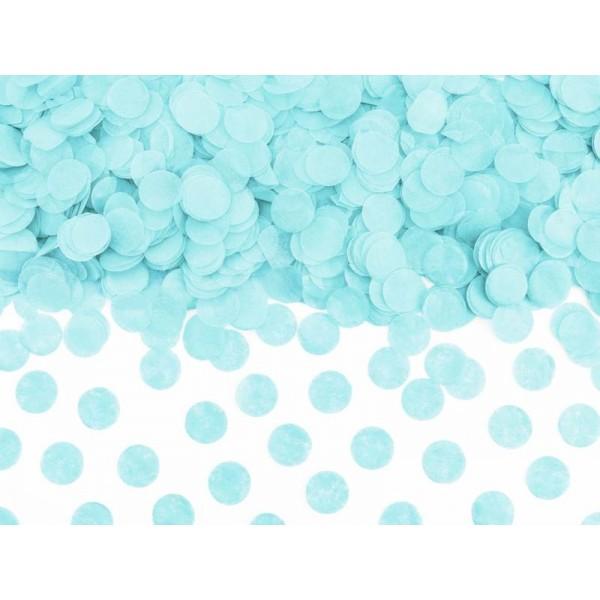 Konfetti papierowe kółka błękitne 15g