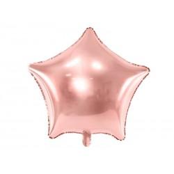 Balon foliowy gwiazdka rose gold 48cm
