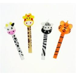 Świeczki urodzinowe Zoo 4szt