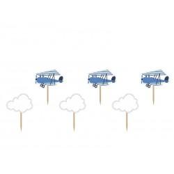 Piki Samolocik niebieskie 6szt